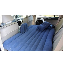 Car Back Seat Air Mattress Portable Air Bed Blue | Inflatable Backseat Bed-SehgalMotors.Pk