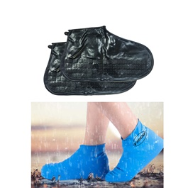 Non Slip Fashion Rain Shoes Rubber Cover - Large | Water proof Shoe Protector
