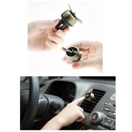 Turbo Fan AC Grill Car Perfume Fragrance - Golden-SehgalMotors.Pk