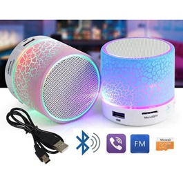 Bluetooth Speaker Led Portable Mini Wireless Speaker Player USB Radio Fm Mp3-SehgalMotors.Pk