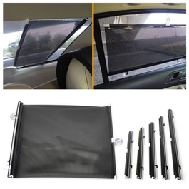 Toyota Prado Side Retractable Windshield Window Sunshield Visor Sun Shade Curtain - Model 2009-2018-SehgalMotors.Pk