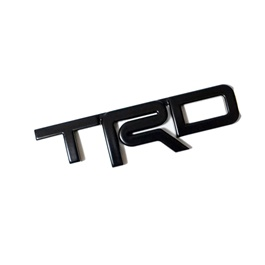 TRD 3D Emblem Metal - Black | Emblem | Decal | Monogram | Logo-SehgalMotors.Pk