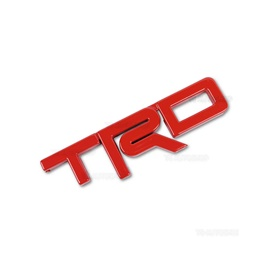 TRD 3D Emblem Metal - Red | Emblem | Decal | Monogram | Logo-SehgalMotors.Pk