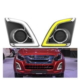 Isuzu D-Max / DMax / D Max Fog Lamp DRL Covers Dual LED - Model 2018-2020-SehgalMotors.Pk