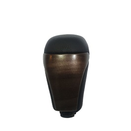Toyota Land Cruiser Leather Wooden Finished Gear Knob - Model 2015-2018
