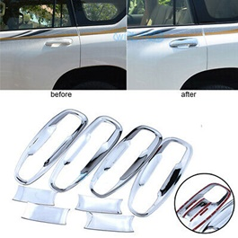 Toyota Prado Chrome Side Door Handle Bowl Cover Trim - Model 2009-2018-SehgalMotors.Pk
