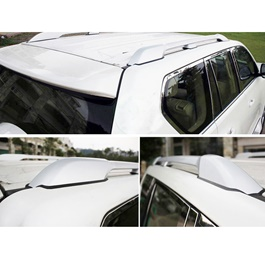Toyota Prado Complete Roof Rack | Roof Rail Full Chrome - Model 2009-2018-SehgalMotors.Pk