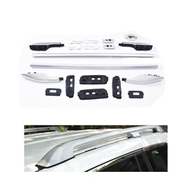 Toyota Prado Complete Roof Rack | Roof Rail Silver - Model 2009-2018-SehgalMotors.Pk