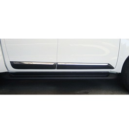 Isuzu D-Max / DMax / D Max Door Lower Chrome Moulding Black Thailand - Model 2018-2020-SehgalMotors.Pk