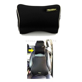 Maximus Neck Rest Pillow Black | Car Seat Headrest Memory Cotton Soft Breathable Pillow Neck Support Cushion-SehgalMotors.Pk