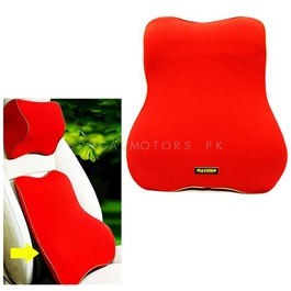 Maximus Back Rest Cushion Red Soft Memory Foam Lumbar Support Back Massager Waist Cushion Pillow For Chairs in the Car Seat Pillows Home Office Relieve Pain-SehgalMotors.Pk