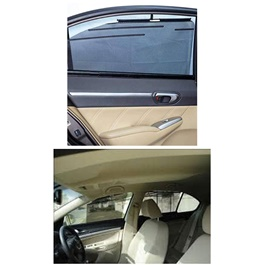 Toyota Land Cruiser Side Retractable Windshield Window Sunshield Visor Sun Shade Curtain - Model 2015-2018-SehgalMotors.Pk
