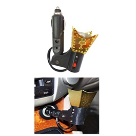Car Electric Incense Burner Bakhoor Oil wood Oud Oudh Air Freshner Burner-SehgalMotors.Pk
