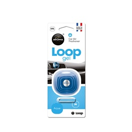 Aroma Car Air Freshener Car Perfume Fragrance Loop Gel Aqua -SehgalMotors.Pk