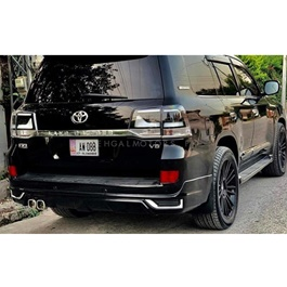 Toyota Land Cruiser TRD Black Smoke Style Back Lamps Pair - Model 2015-2018-SehgalMotors.Pk