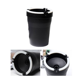 Portable Luminous Ashtray For Smokers | Car Cigarette Ashtray for Cup Holder