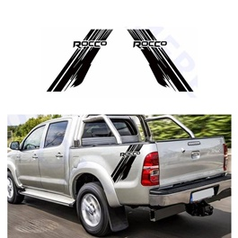 Toyota Hilux Rocco Graphics Vinyl Decal Car Styling Trunk Decor Sticker - Black-SehgalMotors.Pk