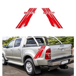 Toyota Hilux Rocco Graphics Vinyl Decal Car Styling Trunk Decor Sticker - Red-SehgalMotors.Pk