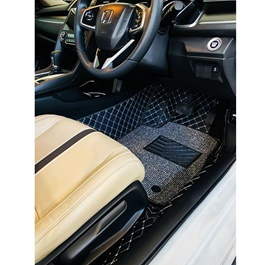 Honda Civic 9D Floor Mats Black and Grey - Model 2016-2020-SehgalMotors.Pk