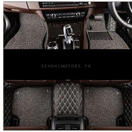 KIA Sportage 9D Floor Mats Black With Grey Grass - Model 2019-2020-SehgalMotors.Pk
