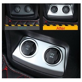 KIA Sportage Chrome USB Cigarette Lighter Trim - Model 2019 -2021