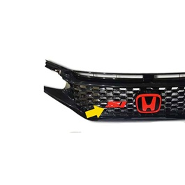Universal Grille SI Logo emblem Plastic material Red Color Sport injected-SehgalMotors.Pk