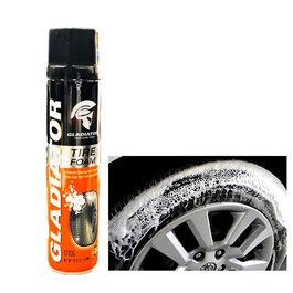 Gladiator Tire / Tyre Foam - 650mlc| Tyres Foam And Shine | Tyre Cleaner | Tyre Product | Tyre Foam Cleaner | Multi Purpose Foam Cleaner For Tires | Universal All Purpose Tire Cleaner-SehgalMotors.Pk
