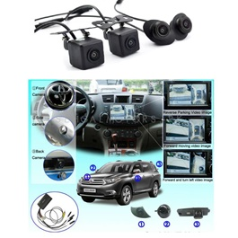Toyota Prado 360 Degree Security Cameras 4 Pieces - Model 2009-2018-SehgalMotors.Pk