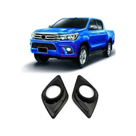 Toyota Hilux Revo Fog Lamps Cover Black - Model 2016-2020-SehgalMotors.Pk