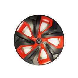 Wheel Cups / Wheel Covers ABS Black Red - 13 Inches Wk2-1RD-13-SehgalMotors.Pk