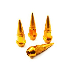 Bullet Tire / Tyre Air Valve Nozzle Caps Golden Color-SehgalMotors.Pk