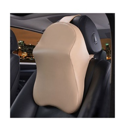Universal Car Neck Rest Pillow - Beige | Car Seat Headrest Memory Cotton Soft Breathable Pillow Neck Support Cushion-SehgalMotors.Pk