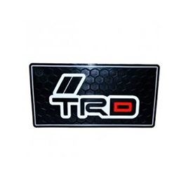 New Style TRD Dashboard Non Slip / Anti-Skid Mat Red And Black -SehgalMotors.Pk