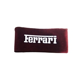 Ferrari Neck Rest Pillow - Maroon | Car Seat Headrest Memory Cotton Soft Breathable Pillow Neck Support Cushion-SehgalMotors.Pk
