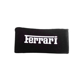 Ferrari Neck Rest Pillow - Black  | Car Seat Headrest Memory Cotton Soft Breathable Pillow Neck Support Cushion-SehgalMotors.Pk