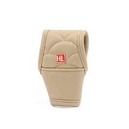 HL Gear Shift Knob For Auto Leather Cover Beige-SehgalMotors.Pk