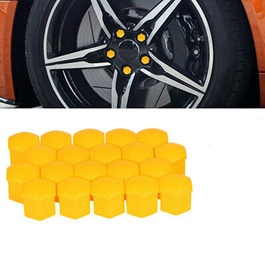 Wheel Hub Screw Cover - Yellow | Wheel Nuts Covers Protective Bolt Caps Car Styling Hub Screw Protector -SehgalMotors.Pk