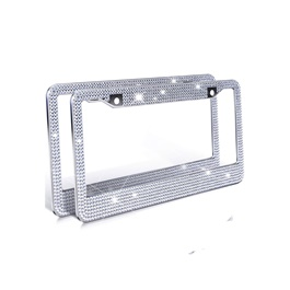 Chrome Diamond Style Number Plate Frame Version 2-SehgalMotors.Pk