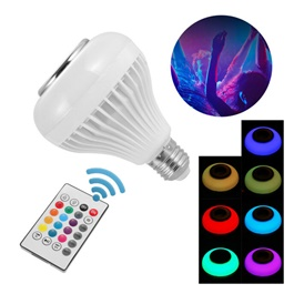 Remote Control RGB LED Bulb with Bluetooth Speaker Option
