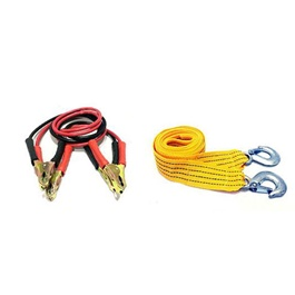 Sos Emergency Kit 2 Pcs | Jump Start Cables | Towing Strap Hook | Car Emergency Kit | Car Start Cable-SehgalMotors.Pk