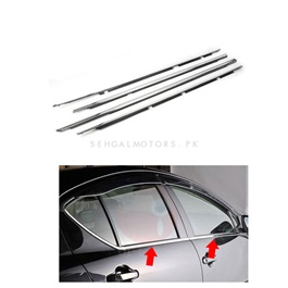 Toyota Aqua Weather Strip Chrome 4PC - Model 2012-2019-SehgalMotors.Pk