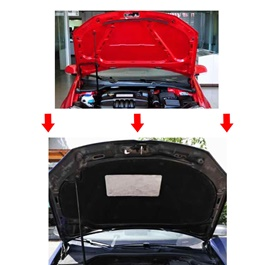 Toyota Corolla Bonnet Cover Protector Lid Garnish Namda - Model 2002-2008-SehgalMotors.Pk