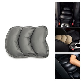 Universal Arm Rest PU Cushion - Grey | Car Armrest Cushion Pad | Car Seat Cover Auto Center Arm Rest Console Box Protective Mat-SehgalMotors.Pk
