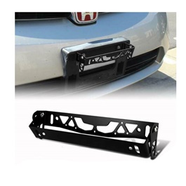Steel Number Plate License Plate Tilter Black-SehgalMotors.Pk