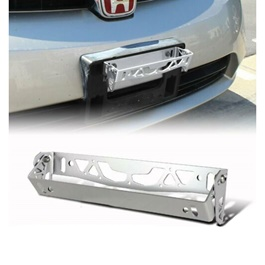 Steel Number Plate License Plate Tilter Chrome-SehgalMotors.Pk