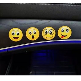 Universal Paste Smiley Emoji Emoticon Nano Sticky Mat - Each Random-SehgalMotors.Pk