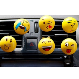 Smiley Emoticon Emoji AC Vent Car Perfume - Each Random-SehgalMotors.Pk