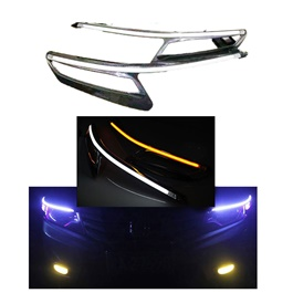 Honda City Headlight LED Eyebrow Carbon Fiber - Model 2017-2020-SehgalMotors.Pk