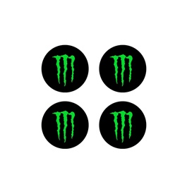 Monster Wheel Cap Logo - 4 Pc-SehgalMotors.Pk