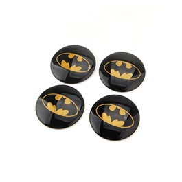 Batman Wheel Cap Logo - 4 Pc  | Wheel Center Cap | Wheel Logo | Wheel Center Hub Caps | Wheel Dust Proof Covers Badge logo-SehgalMotors.Pk